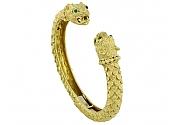 David Webb 'Kingdom' Collection Greek Lion Bangle in 18K Gold