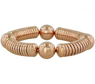 Tubogas Bracelet in 18K Rose Gold