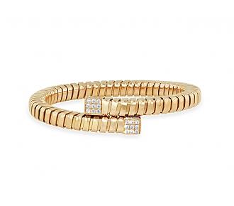 'Veneto' Bypass Bracelet in 18K Rose Gold