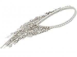 Sue Gragg Diamond Fringe Bangle Bracelet in 18K White Gold