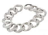 Pavé Diamond Bracelet in Platinum