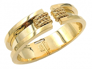 Pesavento Gold Bangle Bracelet in 18K Gold