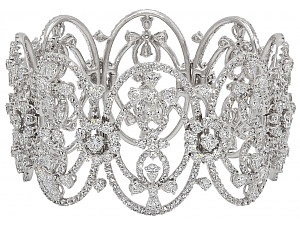 Diamond Bracelet in 18K White Gold