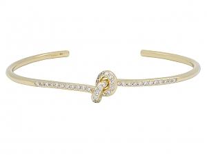 Diamond Knot Bangle Bracelet in 18K Gold, by Beladora