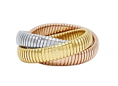 Rolling Bracelet in 18K Yellow, White and Rose Gold, 12mm, by Beladora