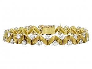 Oscar Heyman Mid-Century Diamond Bracelet in 18K Gold