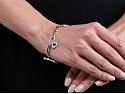 Roberto Coin 'Tiny Treasure' Diamond Charm Bracelet in 18K White Gold
