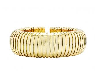 Domed Cuff Bracelet in 18K Gold, by Beladora