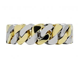 Van Cleef & Arpels Two-tone Curb-Link Bracelet in 18K Gold