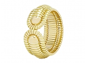 Bordered Domed Cuff in 18K Gold