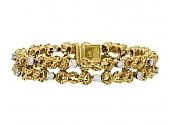 Gold and Diamond Bracelet, in 18K