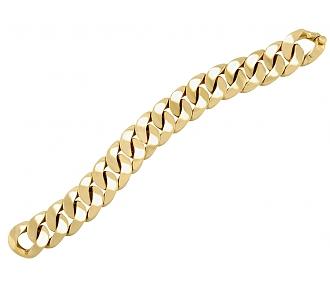 Curb Link Bracelet in 18K Gold, Medium, by Beladora