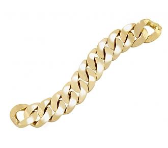Curb Link Bracelet in 18K Gold, Large, by Beladora