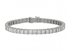 Cartier Princess-cut Diamond Line Bracelet in Platinum