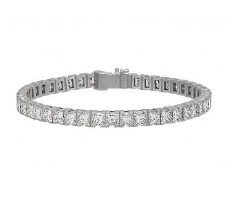 Cartier Princess-cut Diamond Line Bracelet in Platinum