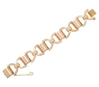 Open link Bracelet in 18K Rose Gold