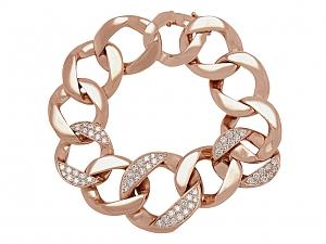 Anita Ko Diamond Curb Link Bracelet in 14K Rose Gold