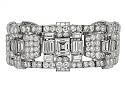 Exquisite Art Deco Diamond Bracelet in Platinum