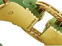David Webb 'Chimera' Nephrite, Ruby and Diamond Bangle in 18K Gold