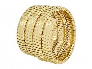 Italian Tubogas Triple Coil Bracelet in 18K, by Beladora