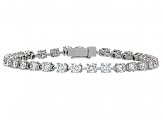 Cartier Diamond Line Bracelet in Platinum