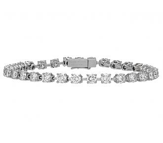 Cartier Diamond Line Bracelet in Platinum