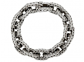 Hermès Vintage Braided Chain Bracelet in Silver