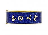'Love' Bangle Bracelet in Enamel and 18K Gold