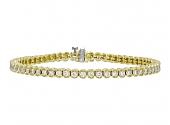 Diamond Line Bracelet in 18K Gold