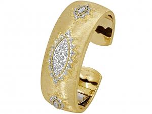 Buccellati Diamond Bracelet in 18K Gold