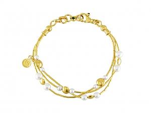 Gurhan 'Lentil' Pearl Bracelet in 24K Gold
