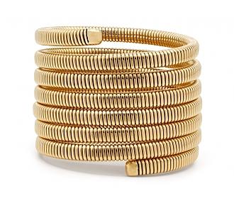 Tubogas Seven Row Wrap Bracelet in 18k Gold, by Beladora