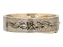 Pair of Antique Victorian Enameled Bangle Bracelets in 12K Gold
