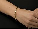 Italian Hinged Bangle in 18K Gold