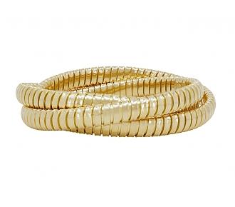 Rolling Bracelets in 18K Yellow Gold, 6mm, by Beladora