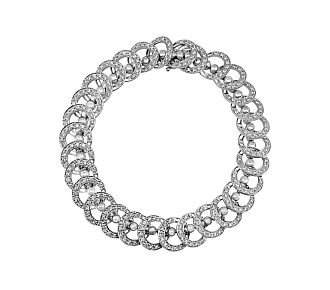 Diamond Flip Bracelet in 18K White Gold
