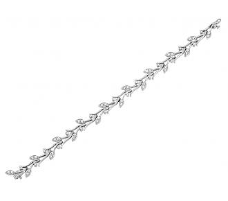 Tiffany & Co. Diamond Leaf Bracelet in Platinum