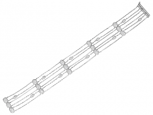 Rhonda Faber Green 'Ovallure' Diamond Bracelet in 18K White Gold