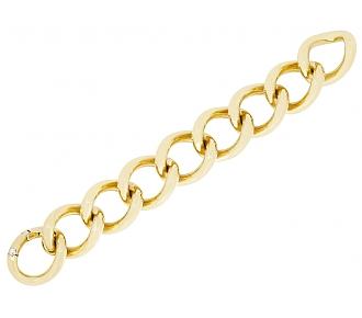 Gubelin Heavy Gold Link Bracelet 18K Gold