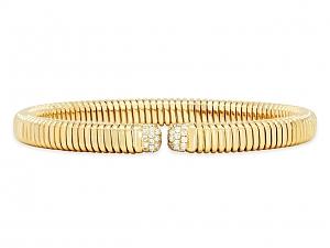 Tubogas Diamond Bracelet in 18K Gold, by Beladora