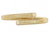 Tubogas Diamond Bypass Bracelet in 18K Gold, by Beladora