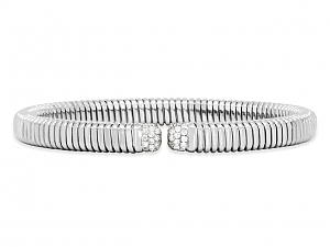 Tubogas Diamond Bracelet in 18K White Gold, by Beladora