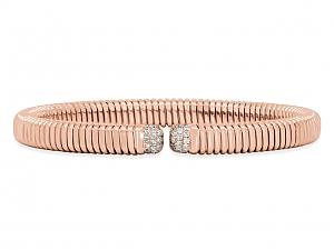 Tubogas Diamond Bracelet in 18K Rose Gold, by Beladora