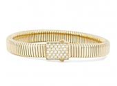 Beladora Diamond Tubogas Bracelet in 18K Gold