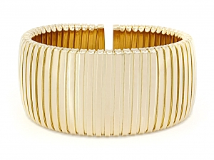 Wide Gold Cuff in 18K Gold, by Beladora