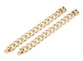 Pair of Curb Link Bracelets in 14K Gold