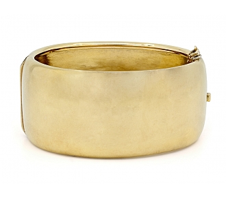 Antique Victorian Gold Hinged Bangle Bracelet in 17K Gold