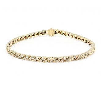 Van Cleef & Arpels Diamond Bracelet in 18K Gold