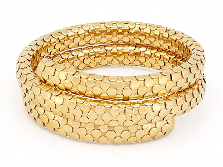 John Hardy Double Coil Dot Bracelet in 18K Gold