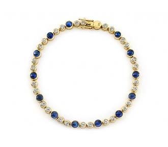 Sapphire and Diamond Bracelet in 18K Gold
